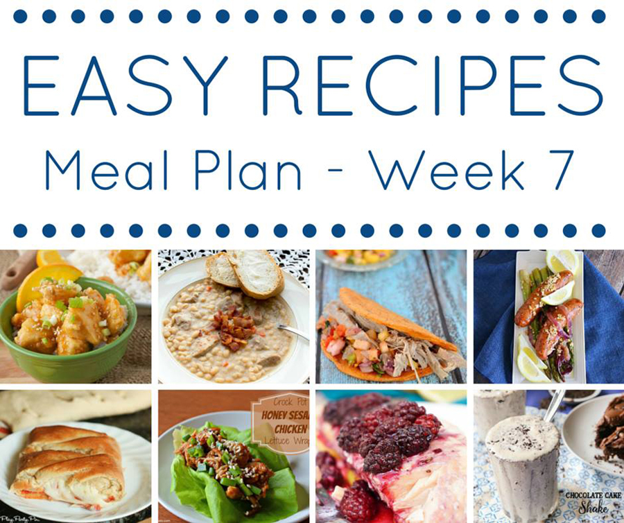 Easy Dinner Recipes Meal Plan - Week 7