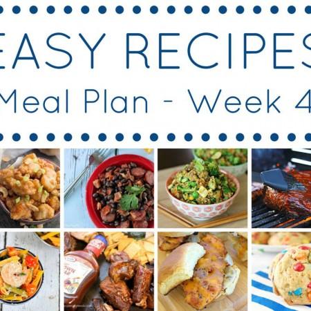 The Easy Dinner Recipes Meal Plan – Week 4
