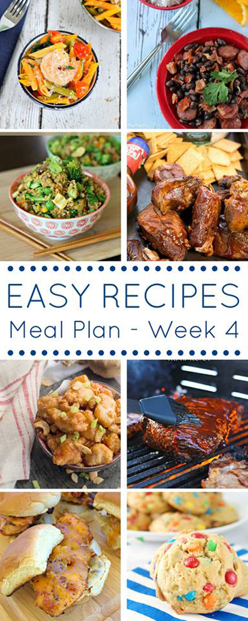 The Easy Dinner Recipes Meal Plan - Week 4