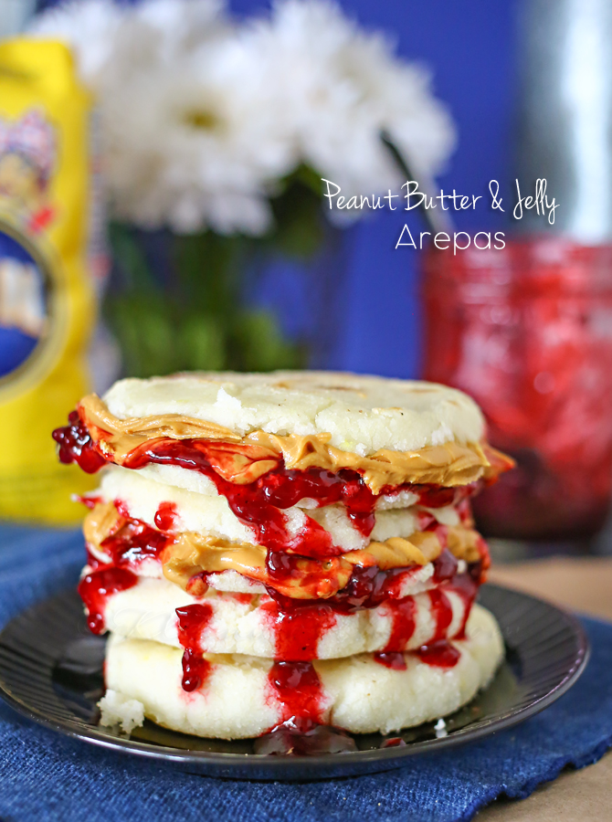 Peanut Butter & Jelly Arepas