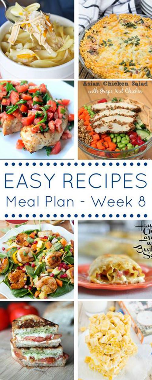 Easy Dinner Recipes Meal Plan- Week 8