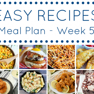 The Easy Dinner Recipes Meal Plan - Week 5