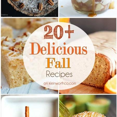 20+ Delicious Fall Recipes