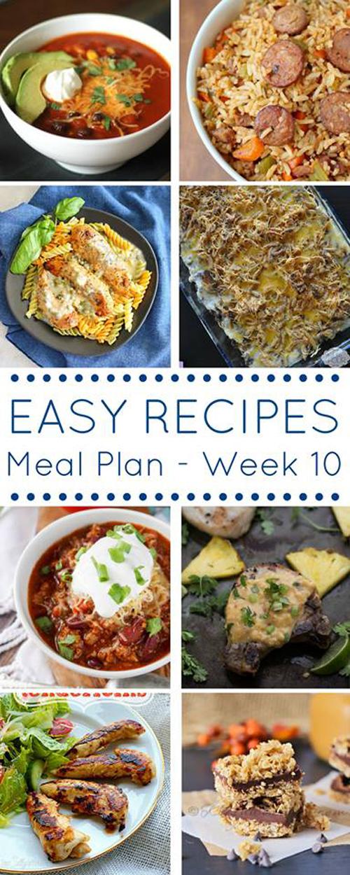 Easy Dinner Recipes Meal Plan- Week 10