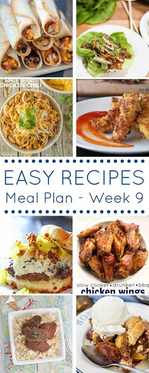 Easy Dinner Recipes Meal Plan- Week 9