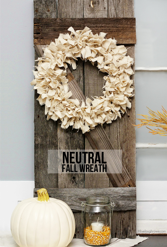 Lovely and super simple Neutral Fall Wreath.