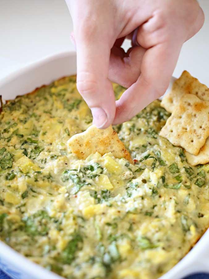 Spinach Artichoke Dip {Vegan}