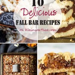 10 Delicious Fall Bar Recipes