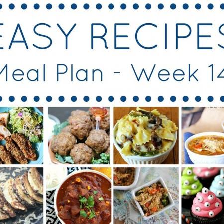 Easy Dinner Recipes Meal Plan {Week 14}