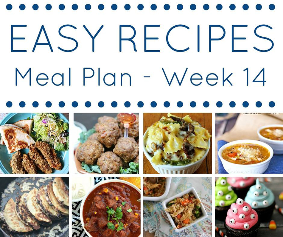 Easy Dinner Recipes Meal Plan {Week 14}