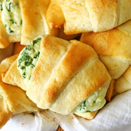 Cheesy Spinach Crescents
