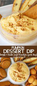 Pumpkin Dip {Easy Tailgating Snack}