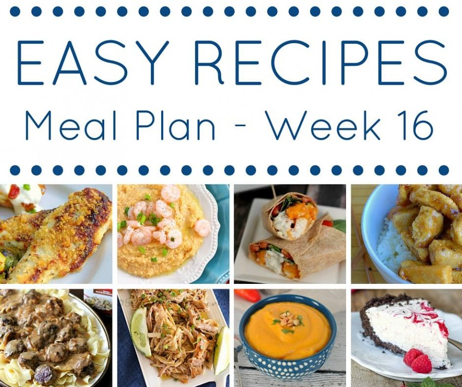 Easy Dinner Recipes Meal Plan {Week 16}