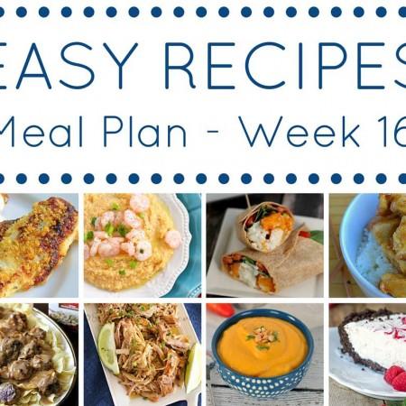 Easy Dinner Recipes Meal Plan {Week 16}