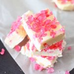 Pink Rock Candy Fudge