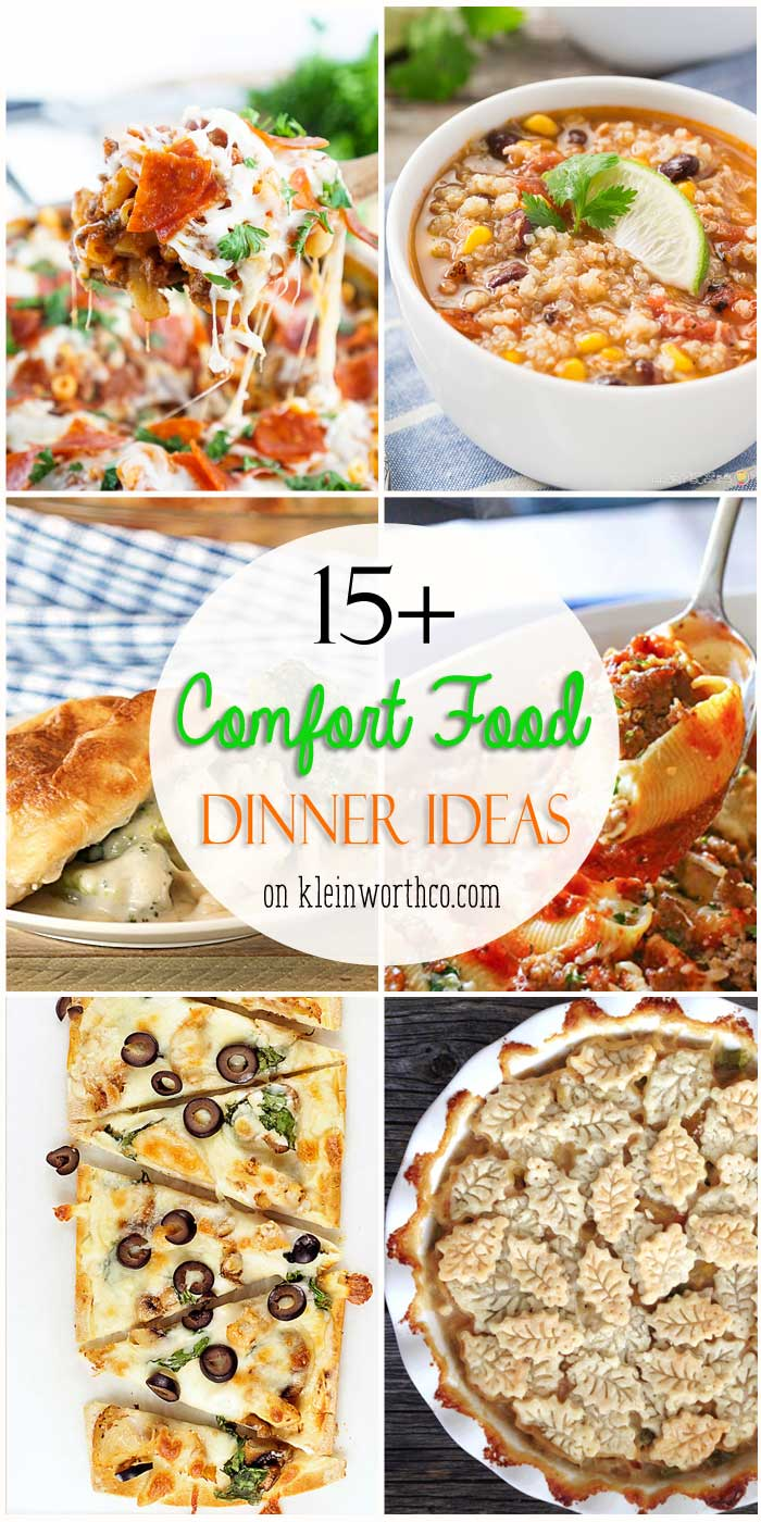 15+ Comfort Food Dinner Ideas