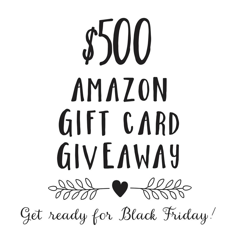 $500 Black Friday Giveaway