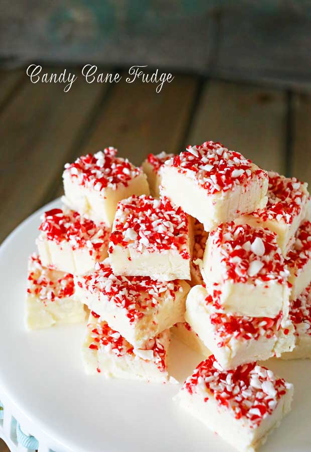 Three Ingredient Candy Cane Fudge Recipe - The 36th AVENUE