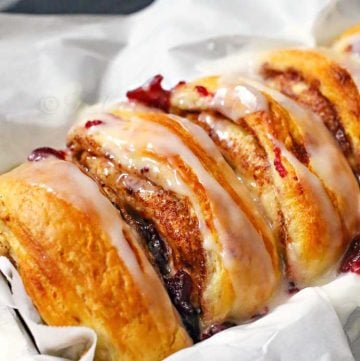 Cranberry Cinnamon Roll Loaf
