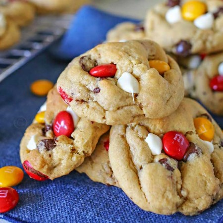 Fall M&M Cookies