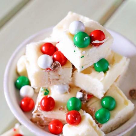 White Chocolate Holiday Fudge