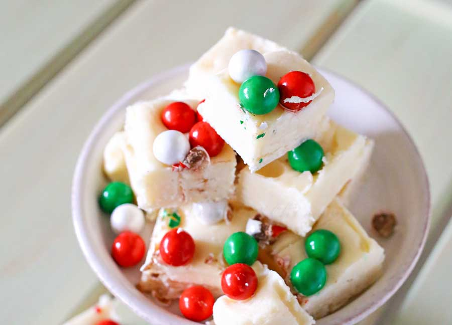 White Chocolate Holiday Fudge