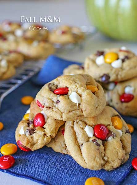 Fall M&M Cookies {Kleinworth & Co.}