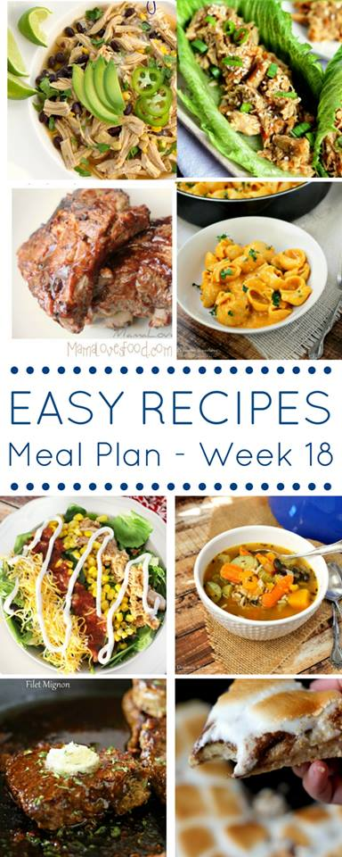 Easy Dinner Recipes Meal Plan Week 18