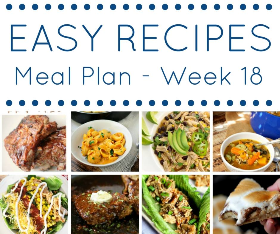 Easy Dinner Recipes Meal Plan Week 18