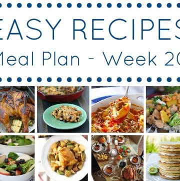 Easy Dinner Recipes Meal Plan Week 20