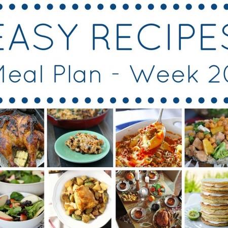 Easy Dinner Recipes Meal Plan Week 20