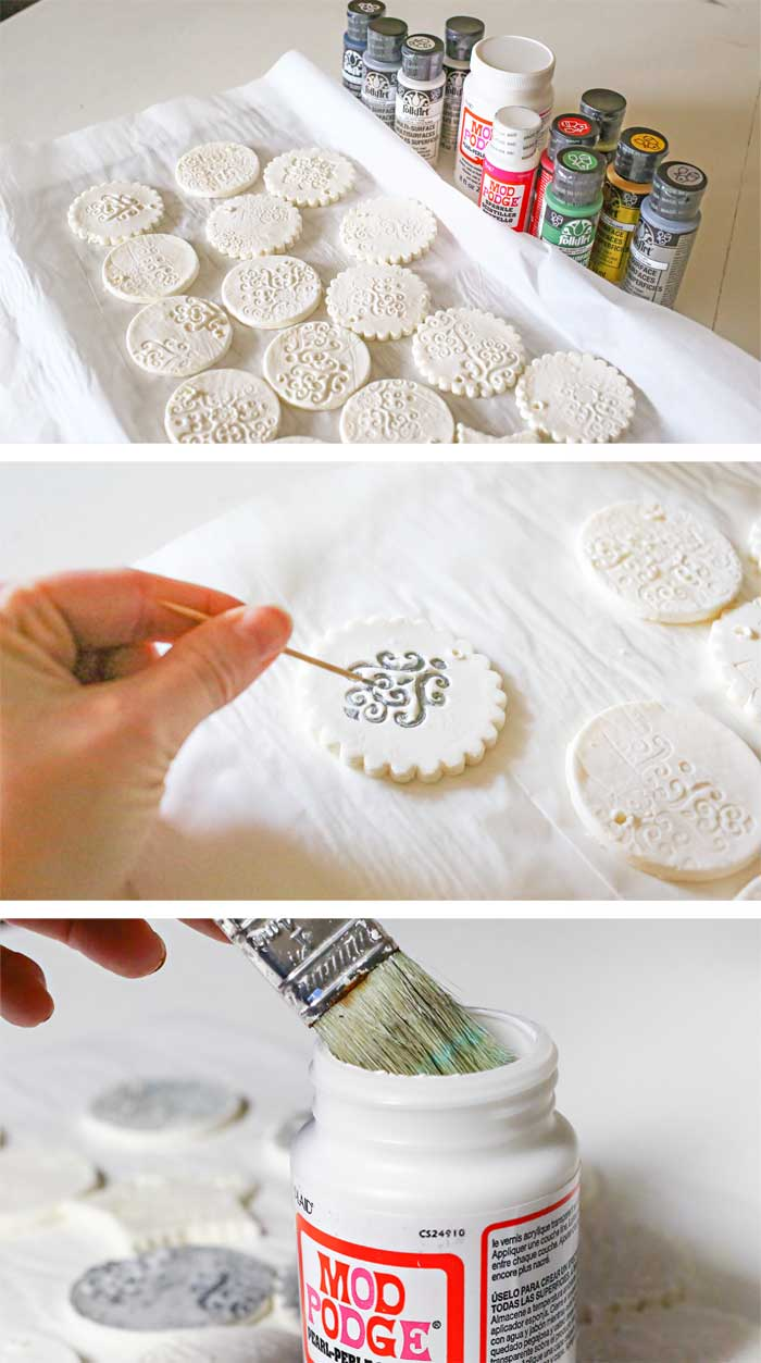Stamped Clay Ornaments w/ Homemade Clay Recipe ...
