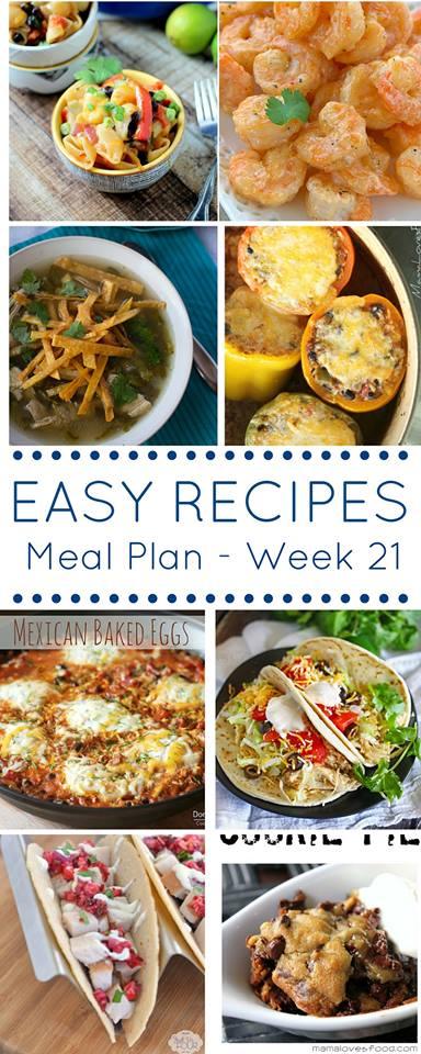 Easy Dinner Recipes Meal Plan Week 21