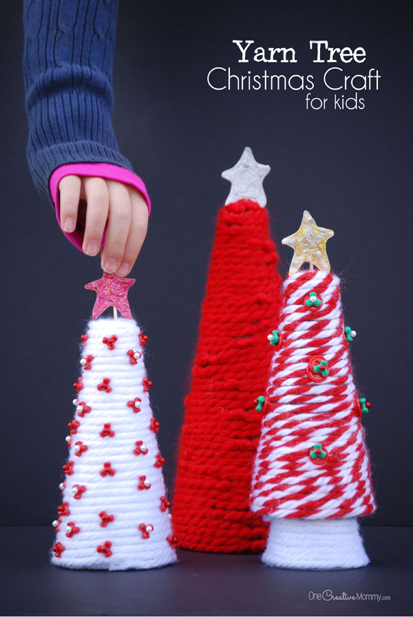 yarn-tree-christmas-craft-for-kids-3a