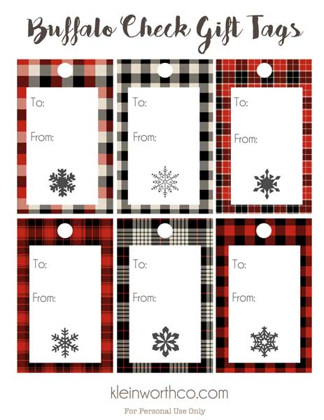 Buffalo Check Gift Tags