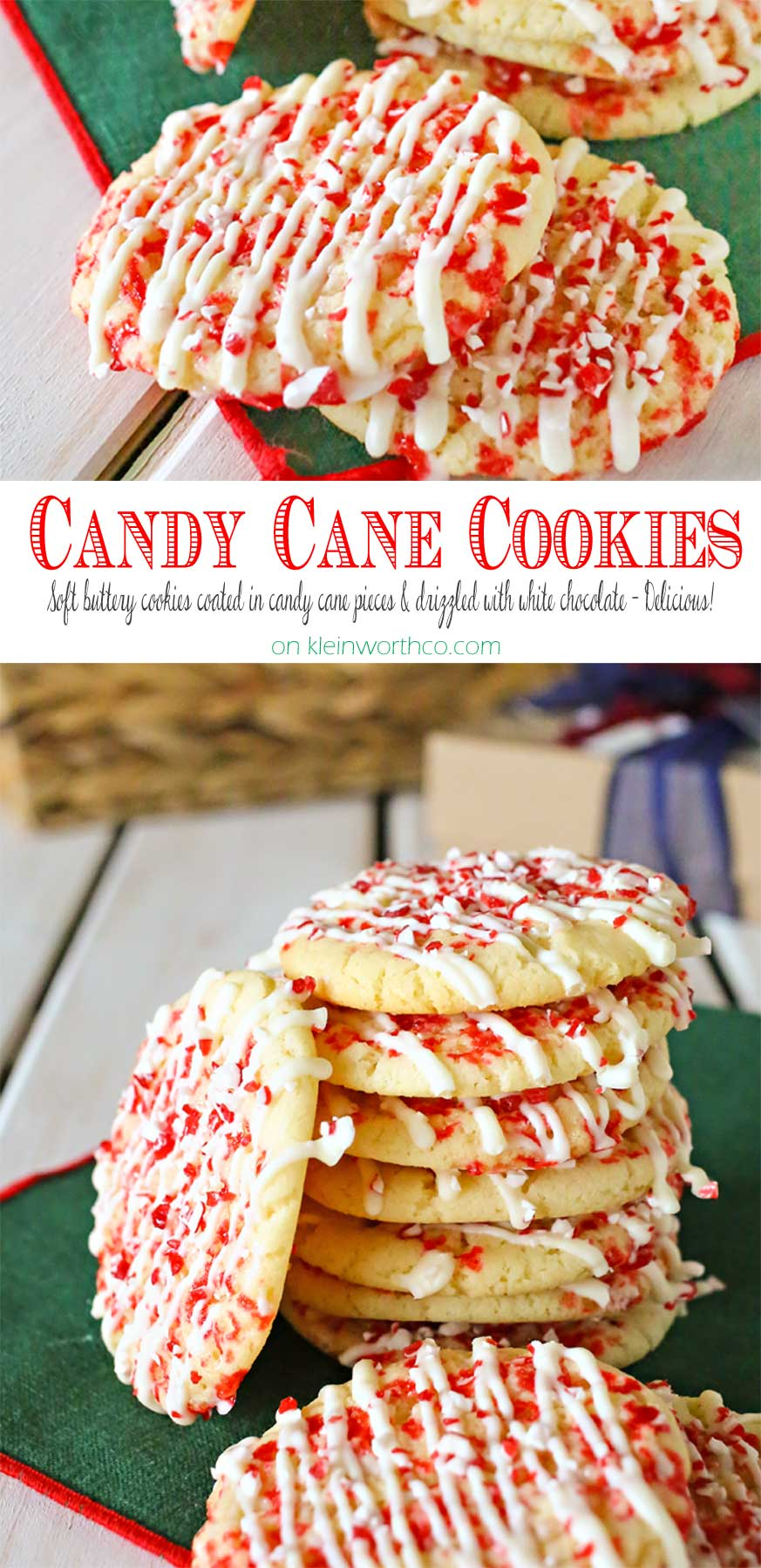 Candy Cane Cookies Coffee Time