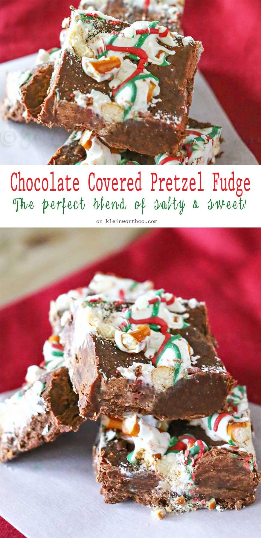 Chocolate Covered Pretzel Fudge