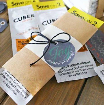 Cigar Gift Idea & Free Printable Gift Tags