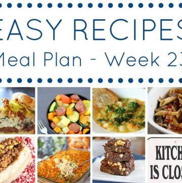 Easy Dinner Recipes Meal Plan Week 23