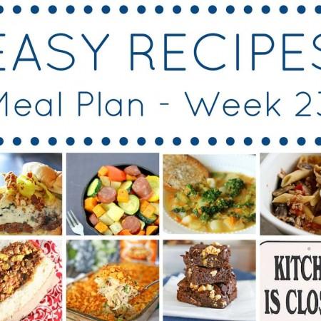 Easy Dinner Recipes Meal Plan Week 23