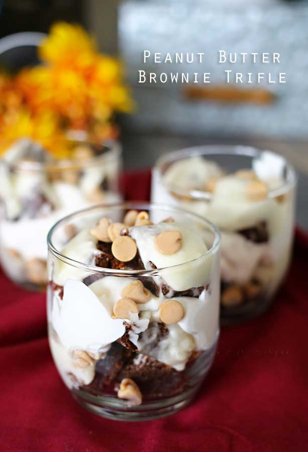 Peanut Butter Brownie Trifles