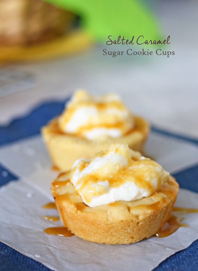 Salted Caramel Sugar Cookie Cups