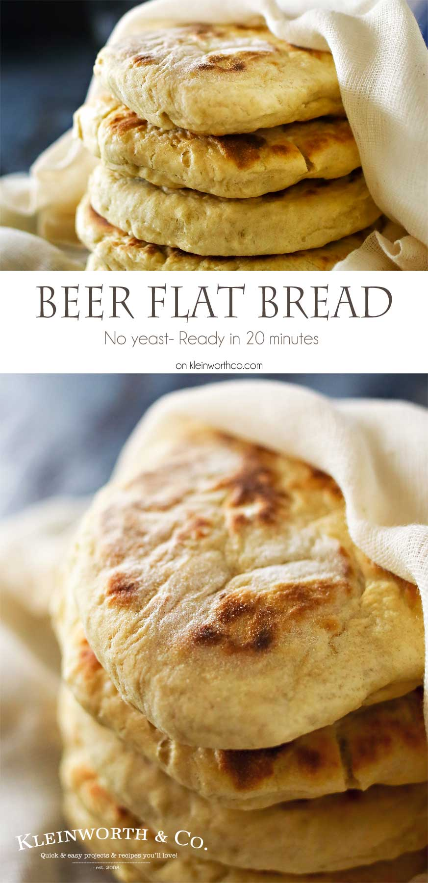 Quick Beer Flat Bread