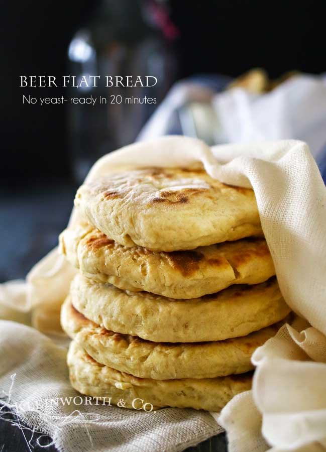 Quick Beer Flat Bread