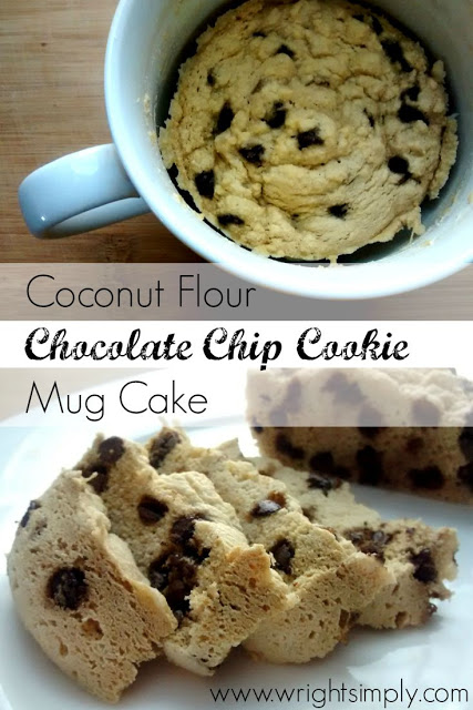 Coconut Flour Chocolate Chip Cookie Mug Cake