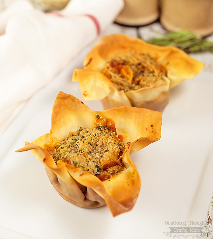 Easy Baked Tortellini Cups