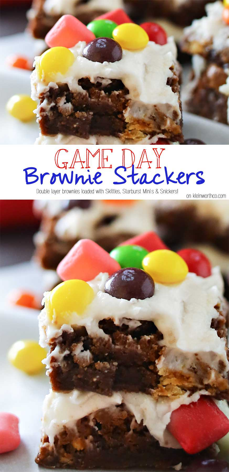 Game Day Brownie Stackers