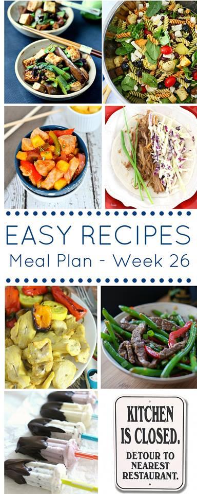 Easy Dinner Recipes Meal Plan Week 26