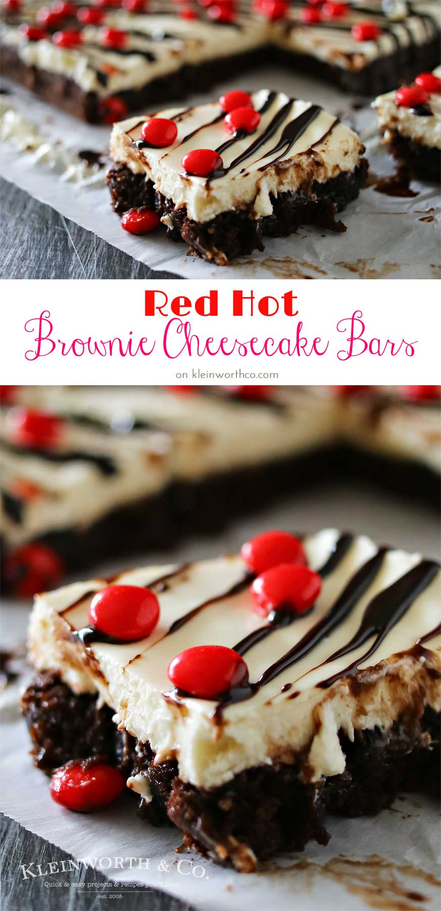 Red Hot Cheesecake Brownie Bars