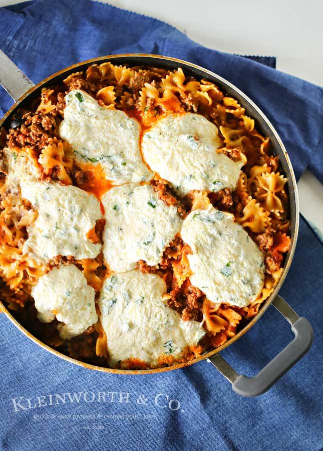 Skillet Lasagna - One Pan Pasta Recipe
